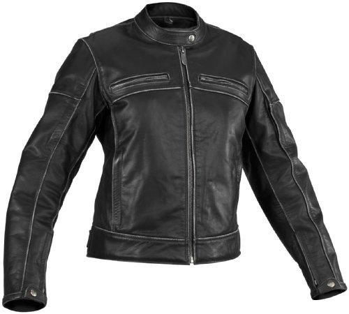 River Road Rambler Vintage Leather Womens Jacket  Gender Womens Apparel Material Leather Size XL Primary Color Black Distinct Name Black XF09-3917
