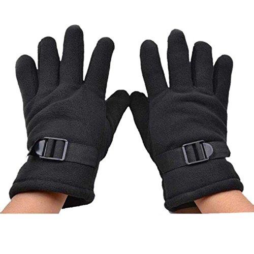 Sannysis Men Fleece Waterproof Gloves For Motorcycle Driving
