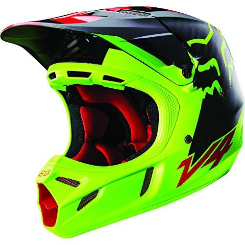 Fox Racing Libra Mens V4 Motocross Motorcycle Helmet - Yellow  Large