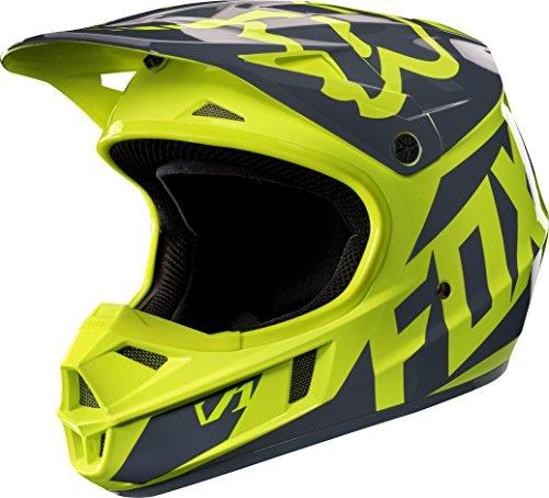 Fox Racing Race Youth V1 Motocross Motorcycle Helmet - Yellow  Medium