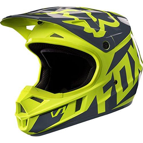 Fox Racing Race Youth V1 Motocross Motorcycle Helmet - Yellow  Small