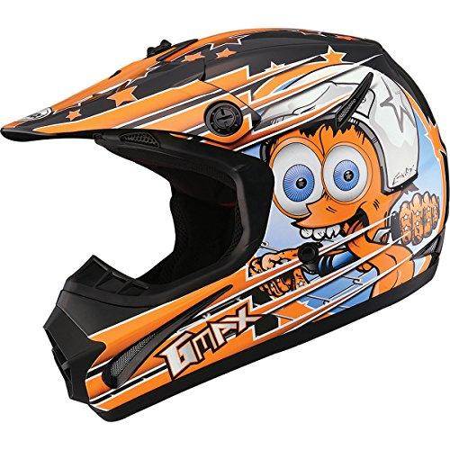 GMAX GM462 Superstar Youth Boys Motocross Motorcycle Helmet - BlackOrange  Large