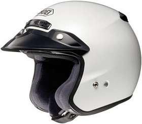 SHOEI RJ PLATINUM R SERIES CRUISER CRYSTAL WHITE SIZEXLG Motorcycle Open-Face-Helmet