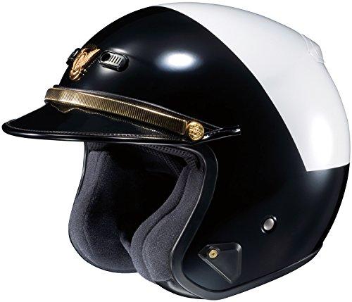 Shoei RJ Platinum-LE High Rise BlackWhite Police Helmet
