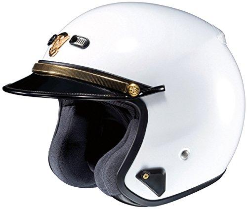 Shoei RJ Platinum-LE Solid White Police Helmet - Medium