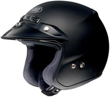 Shoei RJ Platinum-R Matte Black Open Face Helmet L
