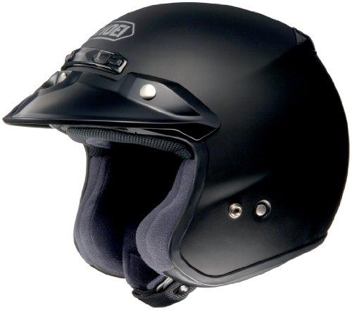 Shoei RJ Platinum R Matte Black Open Face Helmet - Medium