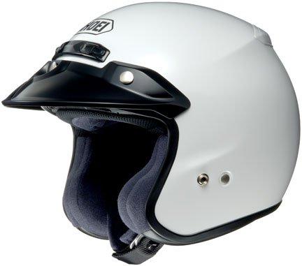 Shoei RJ Platinum-R Open Face Motorcycle Helmets - White - Large