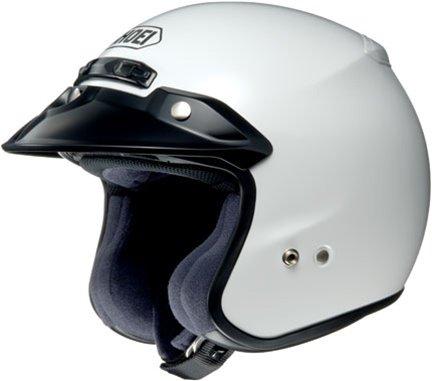 Shoei RJ Platinum-R Open Face Motorcycle Helmets - White - Small