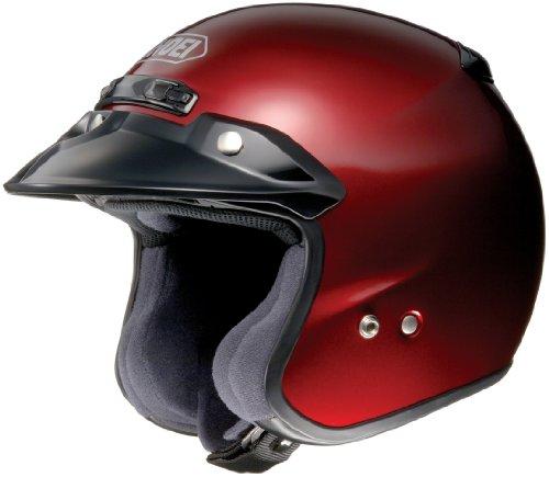 Shoei RJ Platinum R Wine Red Open Face Helmet - X-Small