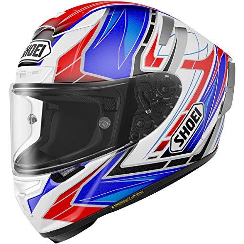 Shoei X-Fourteen Assail BlueRedWhite Full Face Helmet - X-Large