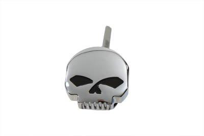 Chrome Skull Design Oil Fill Dipstick For 93-99 Touring Harley Davidson Models