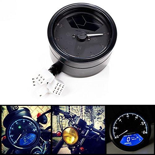 12000rpm Kmh Mph Lcd Digital Odometer Speedometer Tachometer F 2 4 Cylinders Motorcycle Motorbike