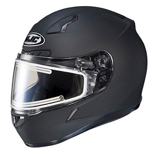 HJC CL-17SN Solid Full Face Snow Helmet Frameless Electric Shield Black Small