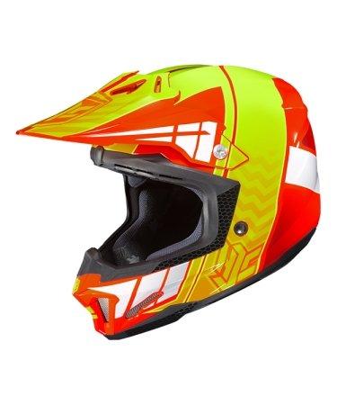 Hjc Snowmobile Helmet - Cl-X7 Cross Up Mc6 Forg Sml