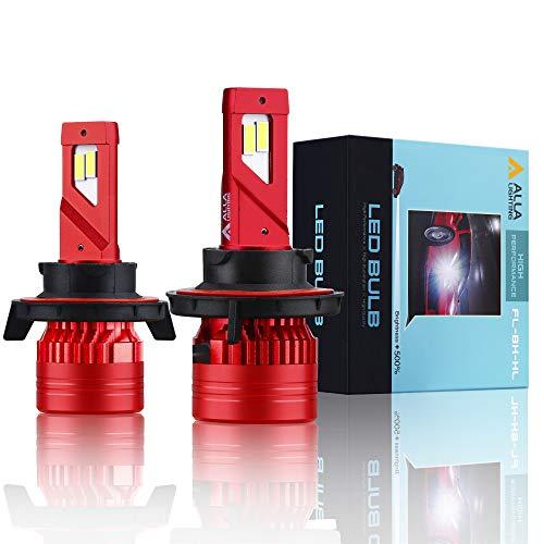 Alla Lighting Mini FL-BH H13 9008 LED Headlight Bulbs 12500 Lumens Newest High Power 90W Xtreme Super Bright 6000K Xenon White Conversion Kits Dual High Low Beam Lights