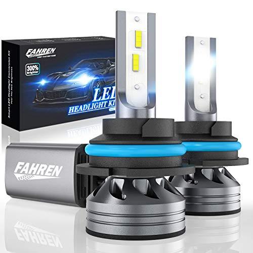 Fahren 9007HB5 LED Headlight Bulbs 60W 12000 Lumens Super Bright LED Headlights Conversion Kit 6500K Cool White IP68 Waterproof
