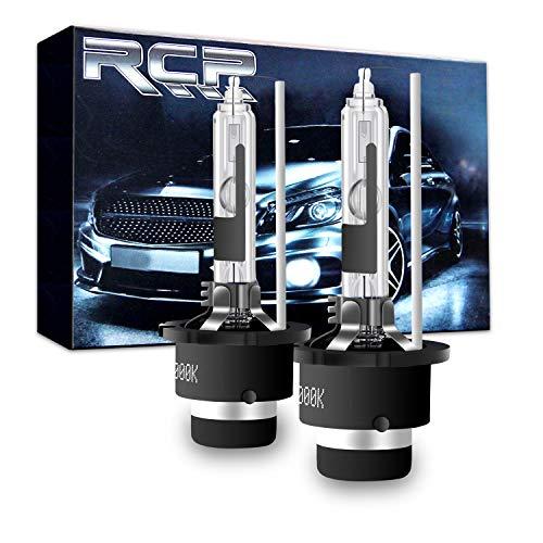 RCP - D4R6 - A Pair D4R 6000K Xenon HID Replacement Bulb Diamond White Metal Stents Base 12V Car Headlight Lamps Head Lights 35W