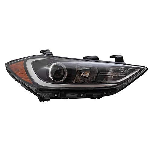 BROCK Headlight Assembly Replacement for 2017-2018 Hyundai Elantra Sedan Passengers Halogen Headlamp wDaytime Running Lights 92102-F3010 92102F3010