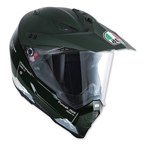 AGV AX-8 Dual Evo Wild Frontier Green Full Face Helmet XL