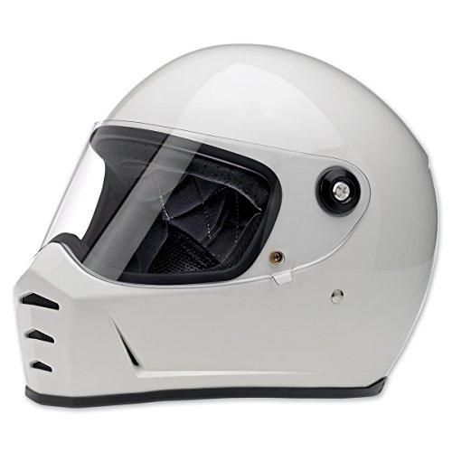Biltwell Inc Lane Splitter Gloss White Full Face Helmet XL