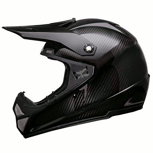 Kali Shiva 20 Carbon Solid Gloss Black Full Face Helmet - XL
