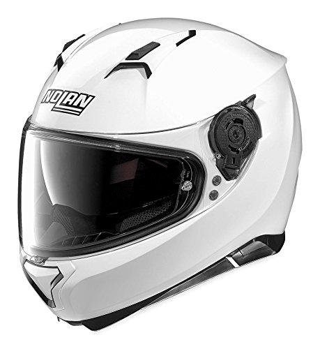 Nolan N87 Metallic White Full Face Helmet XL