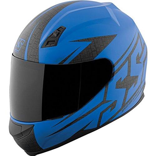 Speed and Strength SS700 Hammer Down Matte Blue Full Face Helmet XL