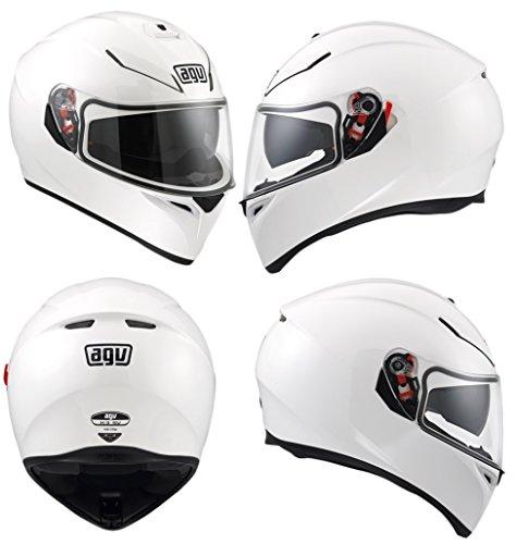 AGV K3-SV DVS Inner Sun Visor Full Face Motorcycle Helmet - Gloss White L