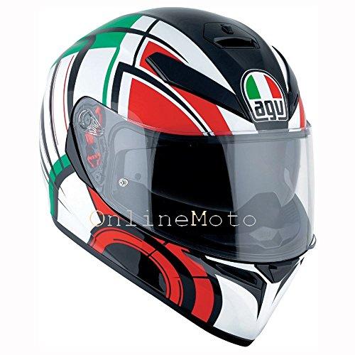 AGV K3 Sv Avior WhiteItaly Motorcycle Helmet Size ML