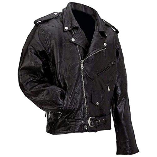Diamond Plate Men's Buffalo Leather Biker Riding Jacket
