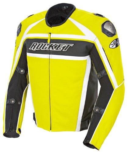Joe Rocket Speedmaster Men's Leather Motorcycle Jacket (radioactive Yellow, Size 46)