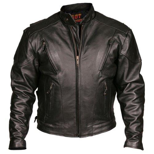 Leather Motorcycle Jacket (black, Size 48)