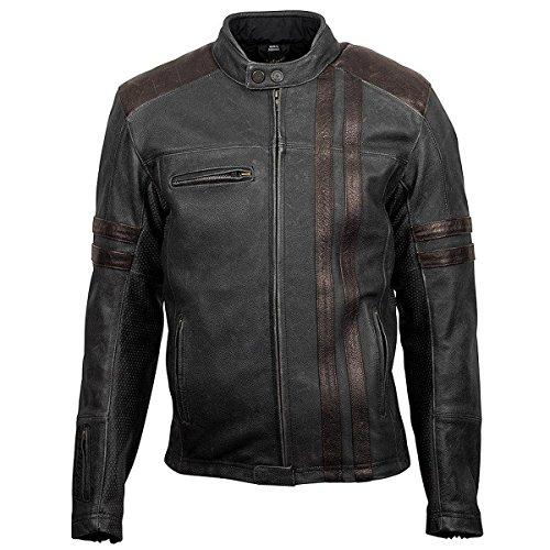 Scorpionexo 1909 Men's Leather Motorcycle Jacket (brown, Large)