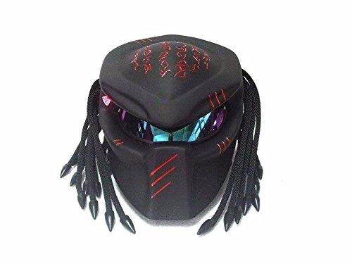Make to Head Custom Predator Motorcycle Dot Approved Helmet matt black M