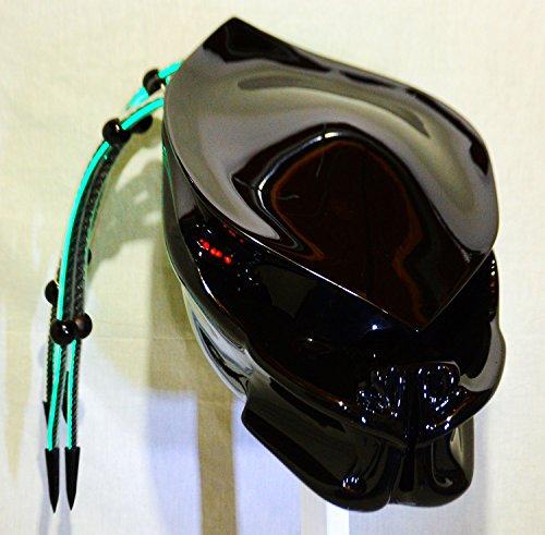 Predator Helmet Motorcycle Helmet Fiber Optic Dreads and Tri-lasers