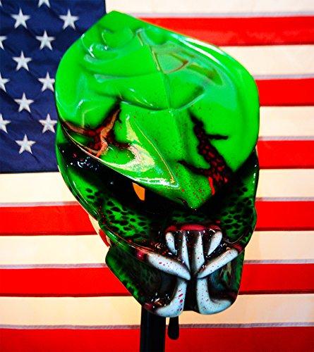 Predator Motorcycle Helmet glow airbrushed