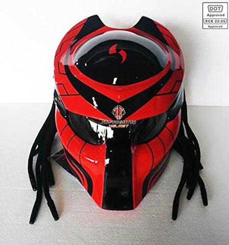 Pro Predator Motorcycle Helmet Dot Approved SY33 RED Black XXL