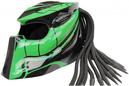 X-FF Fiber Factory - Predator Motorcycle Helmet - X1 Wildspeed xl