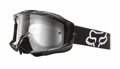 Fox Racing Mens Main Pro Goggles Jet Black Clear FOX 09036-000-NS