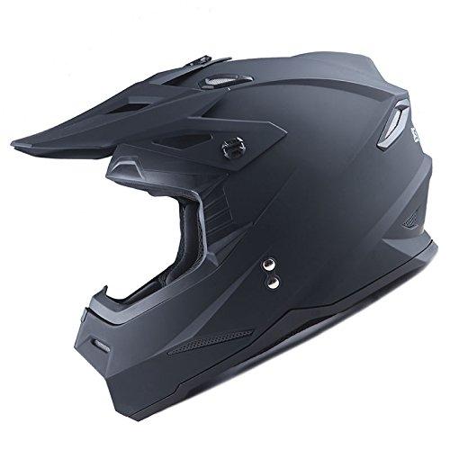 1Storm Adult Motocross Helmet BMX MX ATV Dirt Bike Helmet Racing Style Matt Black