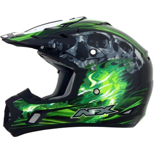 AFX FX-17 Inferno Helmet  Distinct Name BlackGreen Gender MensUnisex Primary Color Green Helmet Type Offroad Helmets Helmet Category Offroad Size XL 0110-3537