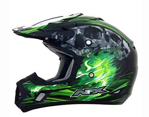 AFX FX-17 Inferno Helmet  Distinct Name BlackGreen Gender MensUnisex Primary Color Green Helmet Type Offroad Helmets Helmet Category Offroad Size XS 0110-3533