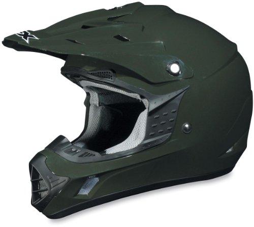 AFX FX-17 Solid Helmet  Size Sm Primary Color Green Helmet Type Offroad Helmets Helmet Category Offroad Distinct Name Olive Gender MensUnisex 01101757