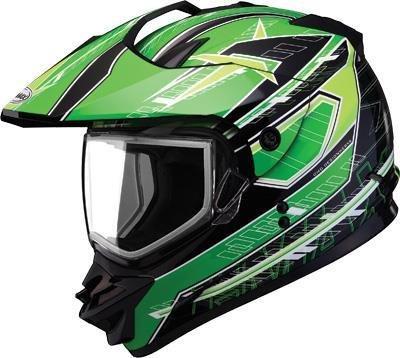G-Max GM11S Nova Helmet  Distinct Name BlackGreenWhite Gender MensUnisex Primary Color Green Helmet Type Full-face Helmets Helmet Category Snow Size Lg G2112226 TC-3