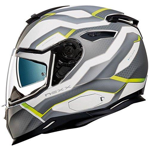 Nexx SX100 IFLUX Helmet - White  Black  Green - S