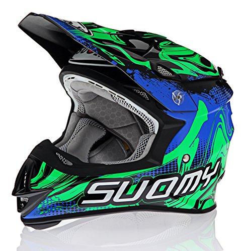 Suomy MX Jump Graffiti Green Helmet size Small