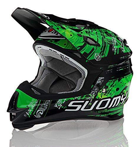Suomy MX Jump Maori Green Helmet size X-Large