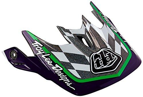 Troy Lee TroyLee D3 Visor Team Black Green Helmets Downhill Greys