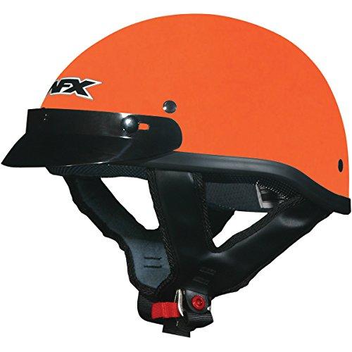 AFX FX-70 Unisex-Adult Half-Size-Helmet-Style Beanie Helmet Safety Orange Medium
